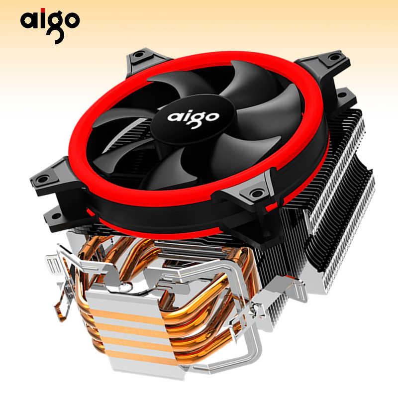 Aigo E3 Computer Fall CPU Kühler Kühler Aluminium 12 V Prozessor Kühler 4 Heatpipes CPU Kühler Lüfter für Intel AM2/AM3/AM4