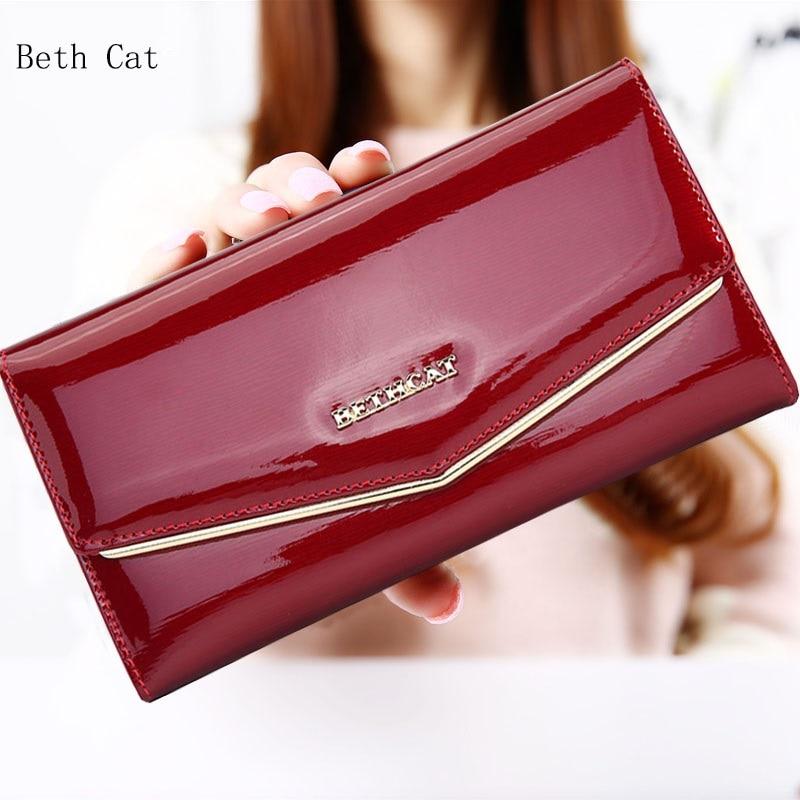 Beth Cat Wallet Female Fashion Solid Women Wallets Genuine Leather Long Hasp Womens Wallets And Purses Zipper Lady Wallet Female цена