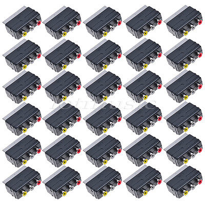 ФОТО 30*Scart to 3 RCA AV Adapter Converter Switch For TV DVD VCR,C3020,Out