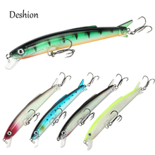 Deshion Topwater Minnow Lure 1PC Fishing 13g 110mm Hard Bait Floating Baits Wobblers