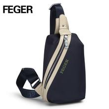 FEGER hot sale waterproof oxford single shoulder sling bag men's casual essential multifunctional chest bag