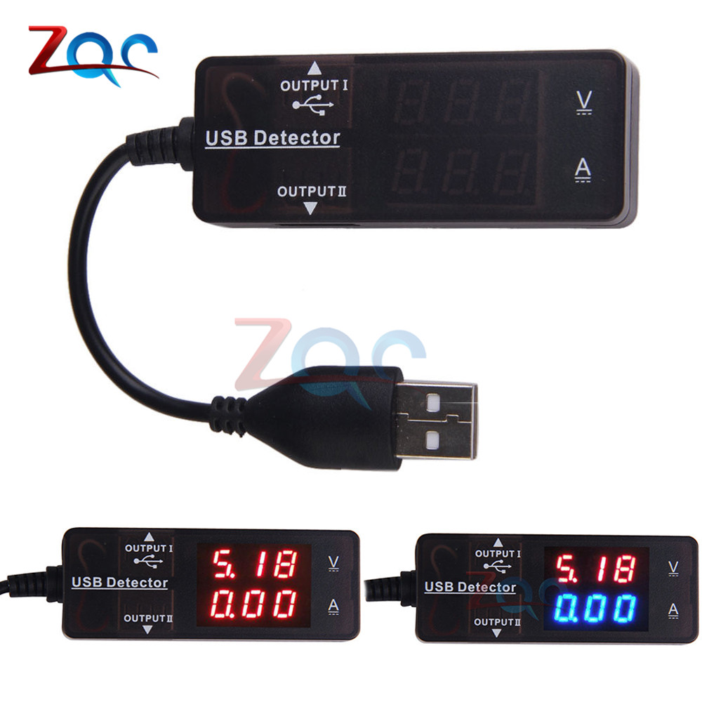 New Portable Pocket Voltage Current Meter Charger LED Digital Dual USB Charger Doctor Tester Power Detector HR Voltmeter Ammeter стоимость