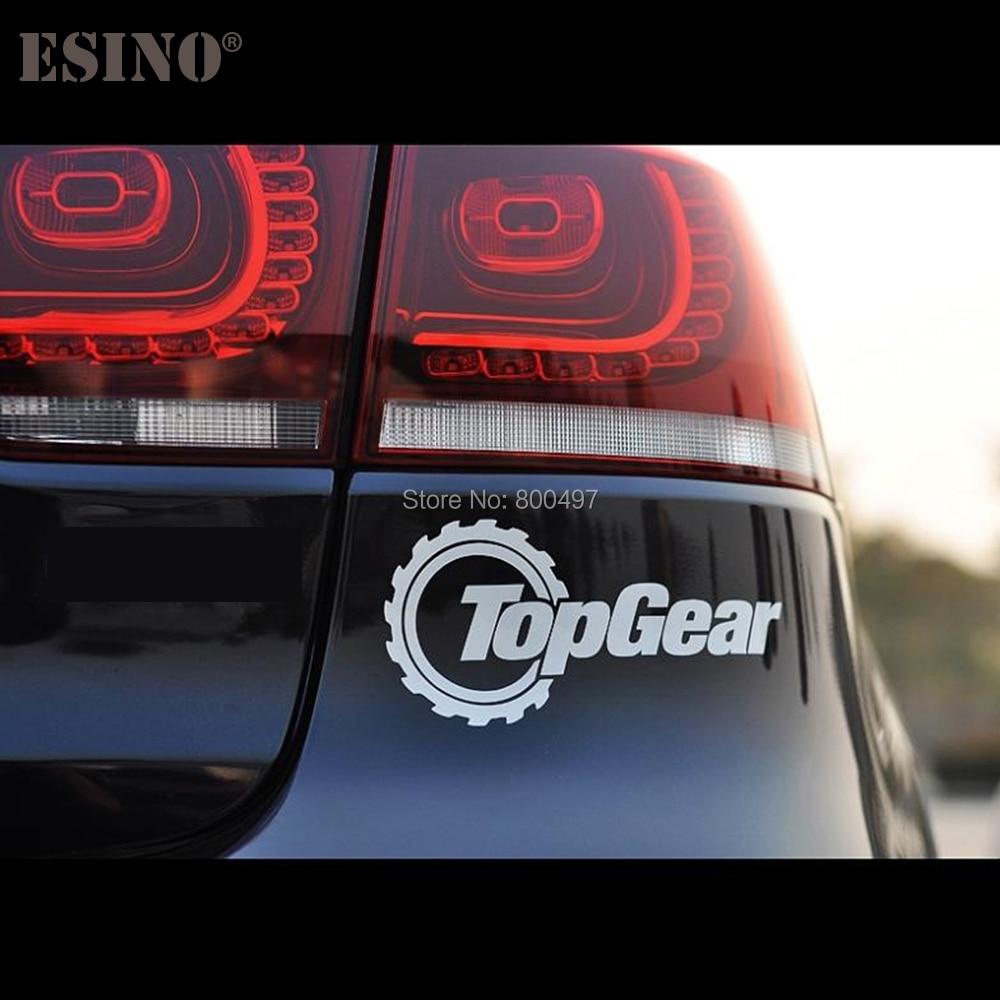 10 x newest design top gear reflective creative auto decal cartoon car sticker car bumper body decal creative pattern vinyl