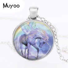 fashion deer pendant necklace vintage animal jewelry horse photo glass cabochon choker necklace jewelry for women HZ1(China)