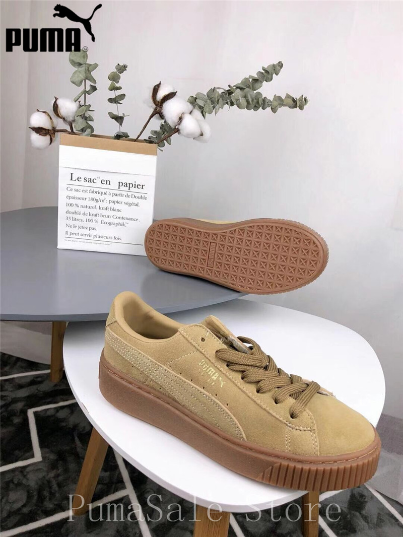 b1626366252 Detail Feedback Questions about Puma Platform Euphoria Women s Badminton  Shoes 364718 01 02 Thick Bottom Sneaker Sports Shoes White Brown Sneakers  35.5 40 ...