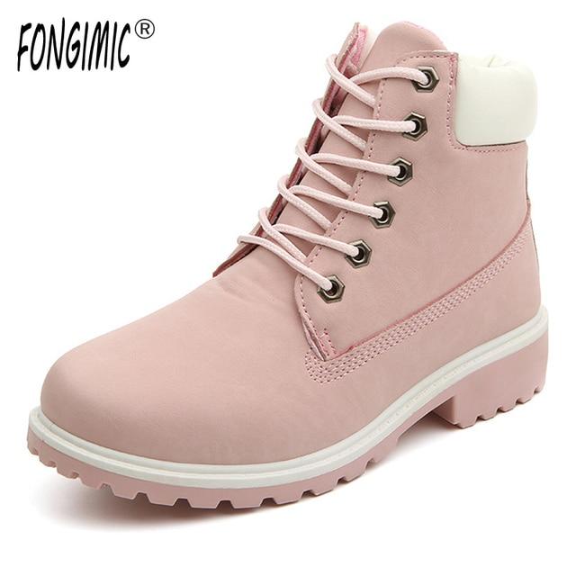 f2d7bc987 Nueva Llegada Mujeres Zapatos Otoño Invierno Mujer Botas de Punta Redonda  Botas de Algodón antideslizantes Zapatos