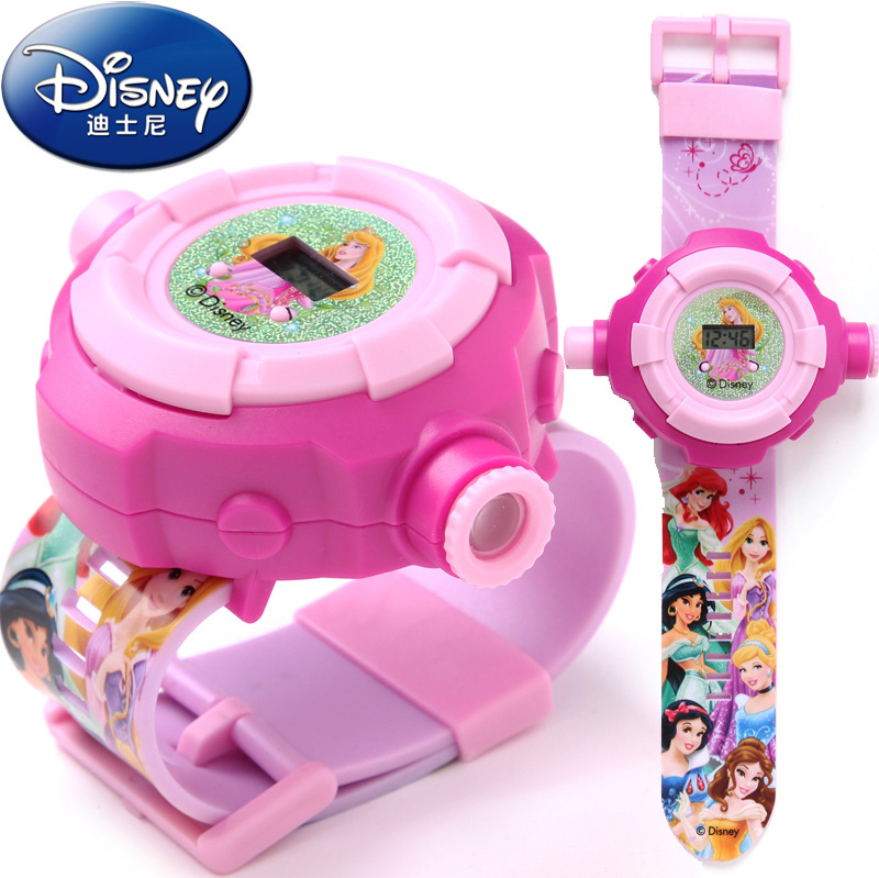 Disney Mickey Minnie Toy Watch Disney Children's Toy Mickey Watch Projector Children Toys Kids Outdoor Watch Princess Gift