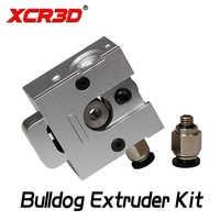 Piezas de la impresora XCR3D 3D todo el extrusor de Metal Bulldog ambos 1,75/3,0mm filamento Kit de extrusión de aleación de aluminio para E3D j-La MK8 1Set