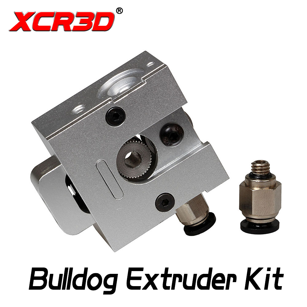 XCR3D 3D Printer Parts All Metal Bulldog Extruder both 1.75/3.0mm Filament Aluminum Alloy Extruder Kit for E3D J-head MK8 1Set robotdigg bulldog extruder