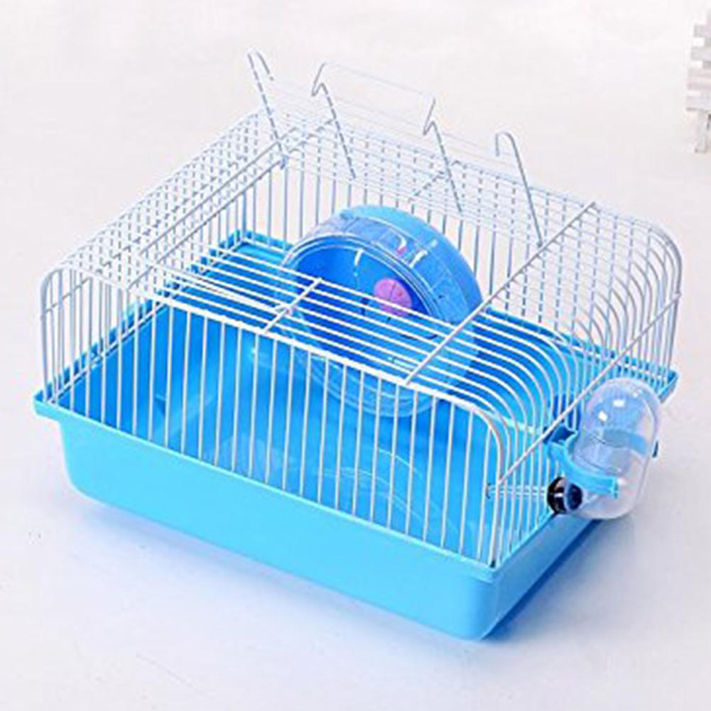 Adeeing Pet Hamster Cage With Running Wheel Water Bottle Food Basin Pet House Mice Home Habitat Decoration