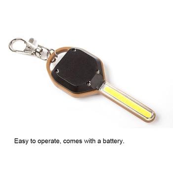 цена на Mini LED Flashlight Light Mini Key Shape Keychain Lamp Torch Emergency Camping Light WWO66