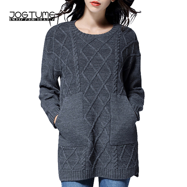 JOGTUME Long Sweaters for Fall Women s Grey Loose Chunky Oversized Sweater  Thick Vintage Winter Warm Pullover Jumper 4xl 5xl f95c18925