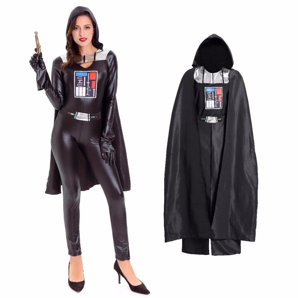 cfyh 2018 new black pu leather star wars costume adult halloween