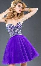 Schatz-wulstige Tüll Cocktailkleider Party Kleider 2016 Neue Mode Sleeveless Cocktailkleider