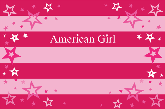 7x5ft Pink Stripes Stars Miss American Girl Custom Photo
