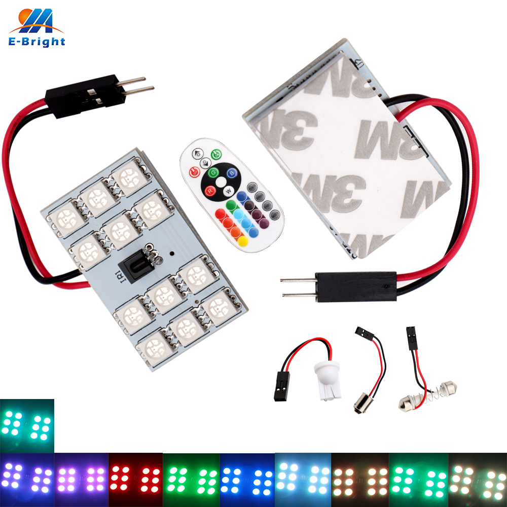 Warm White Light Lamp Panel 36 SMD LED+T10+Dome+BA9S Ad