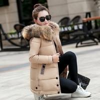 Mozhini Women Coat Jacket Long Warm High Quality Woman Down Overcoat Winter Coat European Style Winter