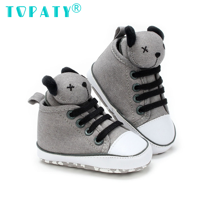 0df25f2c28d Ολοκαίνουργια παπούτσια με δαντέλα Χαριτωμένα αρκουδάκια Μωρά αγόρια ...