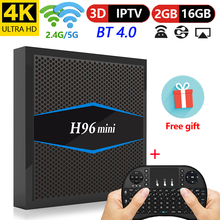 H96 mini Smart tv box android 7.1 2 gb 16 gb Amlogic S905W Quad Core H.265 4 k 2.4g/5 ghz wiFi Media Player pk X96 mini tv box