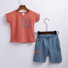 1-3.5 Years  Baby Boy Summer Cotton Tee Short Shirt and Pure pant for boy height 70-105 cm