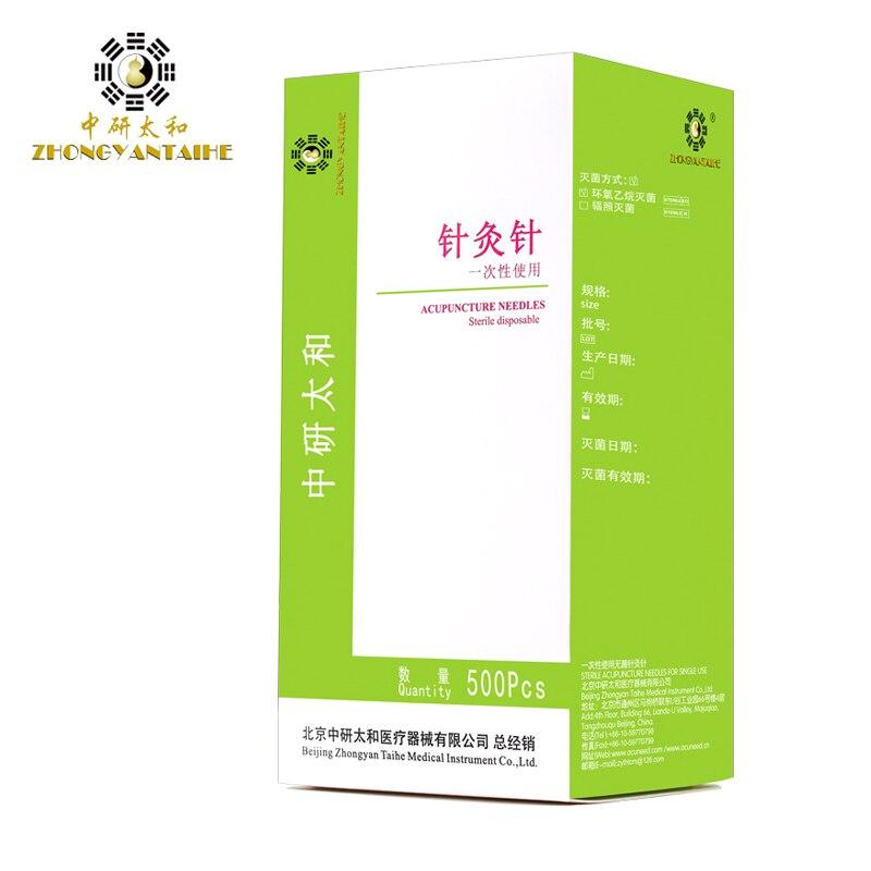 Alta calidad 500 unids/caja Zhongyan Taihe aguja de acupuntura desechables agujas de acupuntura belleza aguja masajeador