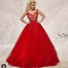 Красные платья для выпускного вечера 2019 бальное платье из