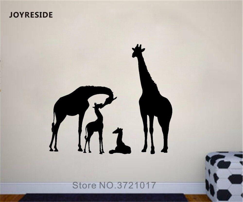 Vinyl Sticker Art Giraffe Family Wall Decals