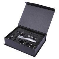 5pcs Wine Bottle Opener Drip Ring Waiter Corkscrew Stopper Barware Tool Set Paper Gift Box
