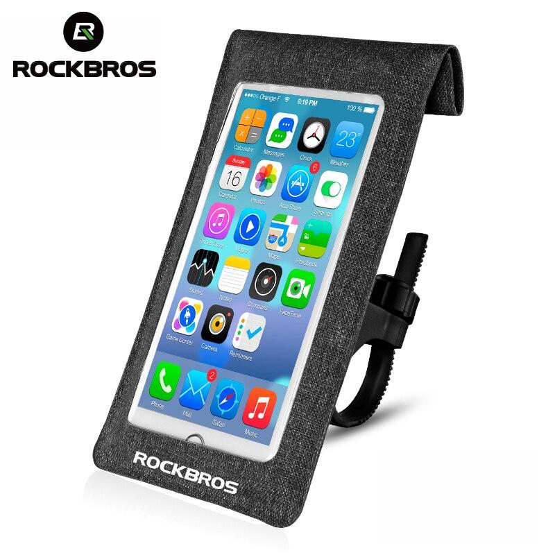 ROCKBROS 6.0 дюймов Велосипедный Спорт телефона сенсорный Велоспорт велосипед Руль управления для мотоциклов передних трубки Водонепроницаемы…