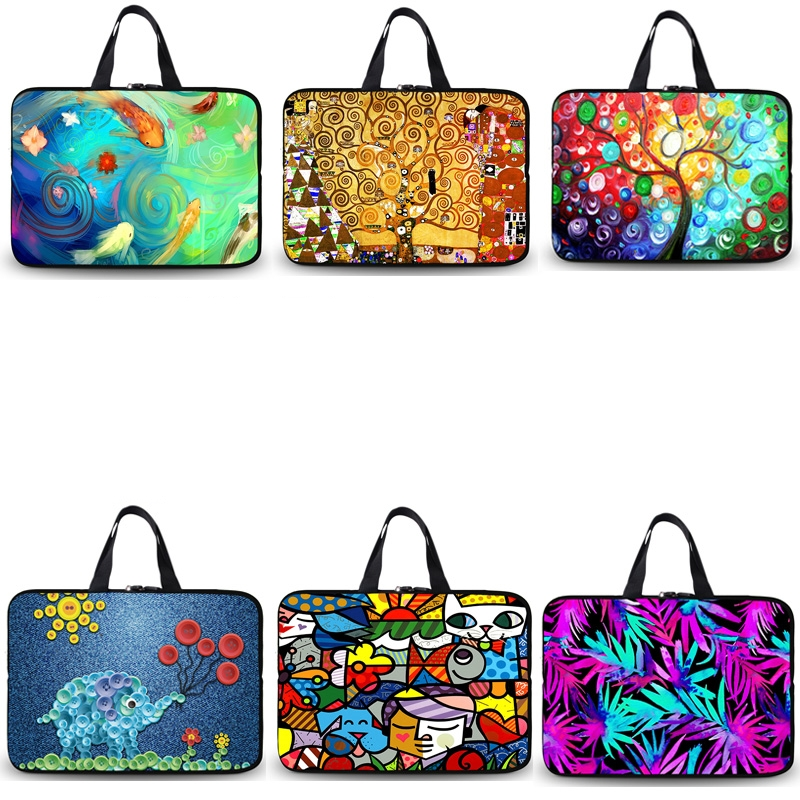 10 12 13 14 15 17 inch Laptop Bag for Macbook Air Pro 12 13 15 Case Waterproof Print Notebook Bag Cover Sleeve for Acer HP Dell