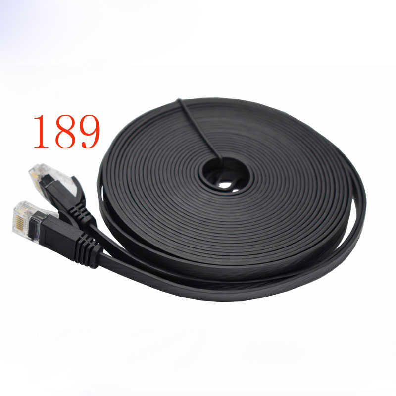 Black flat wire five types of network line household high - speed computer broadband network products jumperBlack flat wire five types of network line household high - speed computer broadband network products jumper