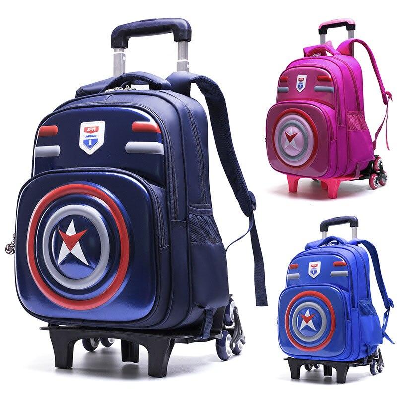 5747e702ad3f Детский 3D рюкзак для мальчиков багаж 5-10 лет школьная сумка на колесиках  студенческий рюкзак на колесиках детский дорожный рюкзак на колеси.