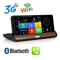 7 дюймов 3 Г WCDMA Приборной Панели DVR GPS Навигации Android 5.0 Full HD 1080 P Bluetooth Телефонный Звонок WiFi 1 Г RAM GPS с Двумя Объективами Камера DVR