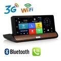 Tablero de Instrumentos DVR GPS de Navegación de 7 pulgadas 3G WCDMA Android 5.0 Full HD 1080 P Bluetooth Llamada de Teléfono WiFi 1G RAM GPS de Doble Lente de La Cámara DVR