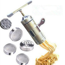 Noodle-Maker Pasta-Machine Manual Hand-Pressure Stainless-Steel Household with 5-Models