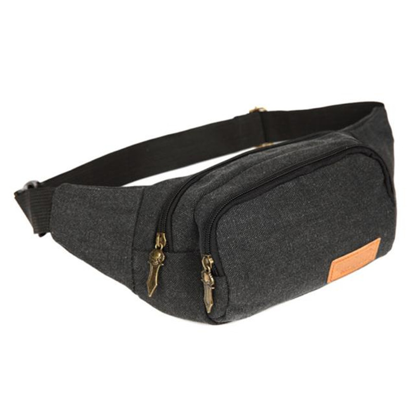 Mens Waist Chest Bags Packs 2017 popular  Canvas Casual  Crossbody Shoulder Bag Chest Bag Waist Packs to travel wholesale A7