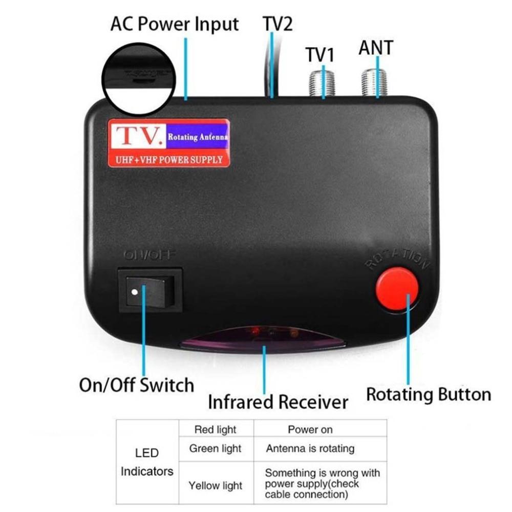 150Mile HDTV 1080P Outdoor Amplified Digital TV Antenna 360°Rotor UHF VHF Leadzm