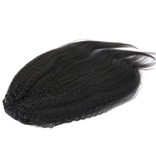 Ponytail For Remy Hair Clip In Ponytails Black Human Hair Extension