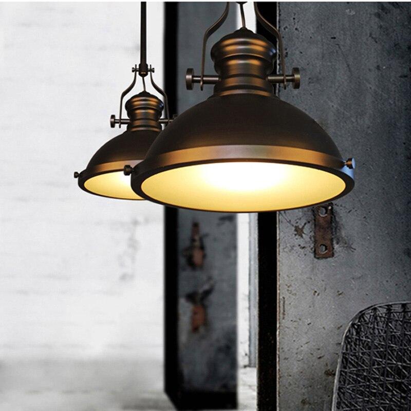 loft vintage retro rstico lmparas de hierro colgante americano luz colgante industrial lmpara de la cocina