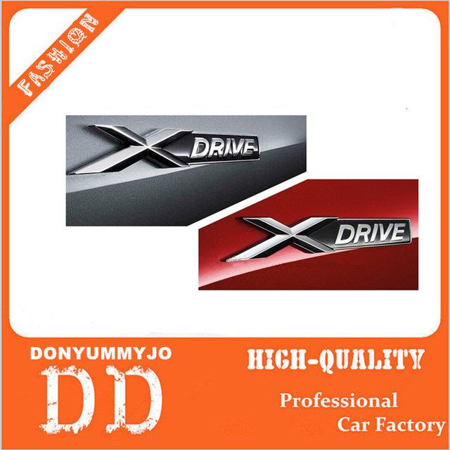 Wholesale 20pcs car styling 3d chrome metal xdrive sdrive emblem logo sticker badge decal decoration