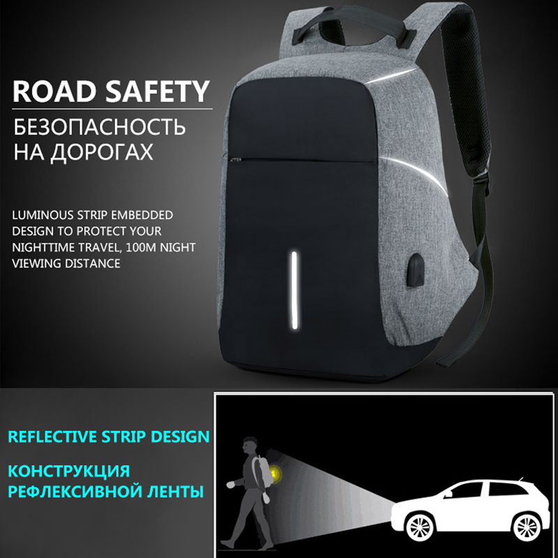 Bbirds Usb Charging Men 15 Inch Laptop Backpacks Waterproof Men's Business Bag Anti Theft Roubo Backpack Nylon School #3