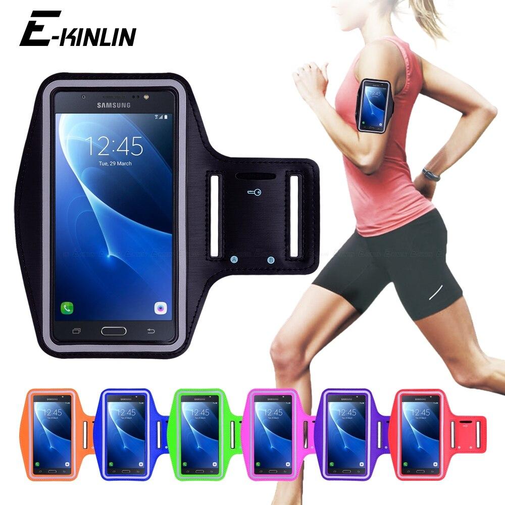 Correndo Ginásio Ciclismo Esporte Workout titular Do Telefone Capa Bolsa Para Samsung Galaxy J3 J1 J5 J7 J2 2 Prime 2015 2016 2017 Caso Faixa de braço