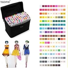 TOUCHFIVE 30/40/60/80 Colors Artist Painting Art Marker Pen Head Oil Art Sketch Markers Set Designers school supplies