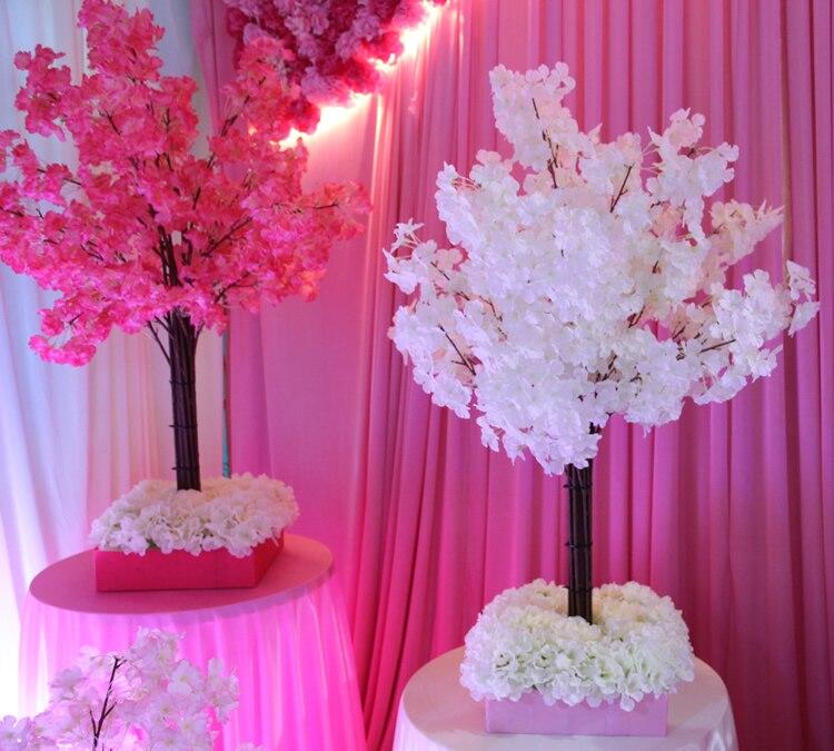 Centrais do casamento flores de 110 cm de altura, branco da árvore de simulação/Simulação de cerejeiras/decorações de casamento loja