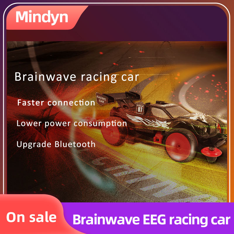 Mindyn Brainwave Toy Race Car EEG Feedback Bluetooth 4.0 Headband Attention Mind Training