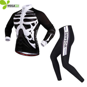 WOSAWE Maillot Ciclismo Roupa de Ciclismo Esqueleto Skeleton Cycling Suits Men Silicon Gel Padded Bicycle Clothing Set Motocross - DISCOUNT ITEM  40% OFF Sports & Entertainment