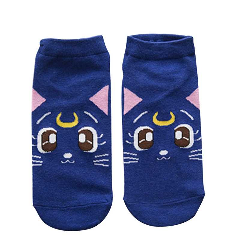 2019 New Fashion Girls Womens Cotton Socks Anime Sailor Moon Ankle Casual Dress Socks