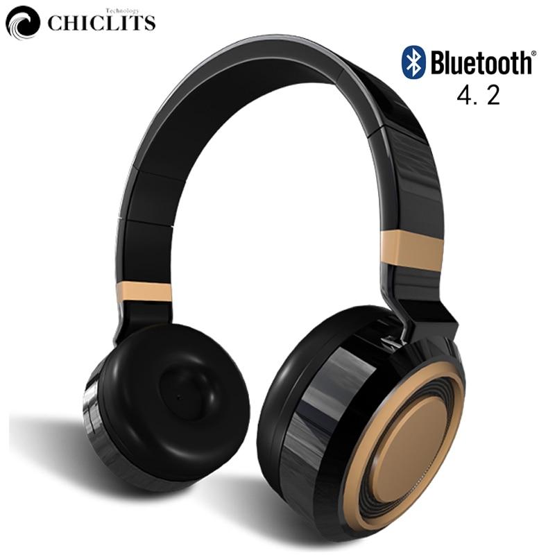 Chiclits TF Karte Wireless Bluetooth 4.2 Kopfhörer Active Noise - Tragbares Audio und Video