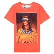 f9e89157 Vetore brand T-shirt 2018 New Fashion Woman T-shirt Oil Painting Pattern Printing  Design Personality Wearing Female T-shirt Hot