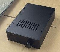 BZ1655 Black Full Aluminum Enclosure Amplifier Case Preamp Box PSU Chassis